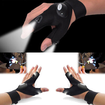Fingerless Glove LED Light Flashlight Tools Outdoor Fishing Gear Rescue Survival