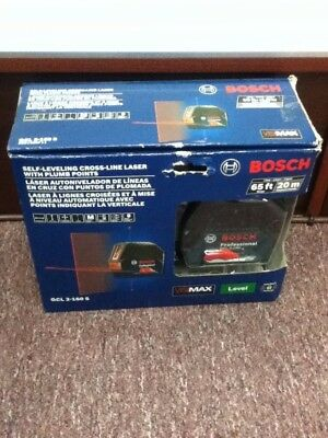 New in box, Bosch Self Leveling Cross Line Laser With Plumb Points GCL 2-160 S