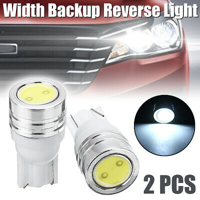 2pcs T10 W5W 2LED 5W Canbus NO Error Car Width Backup Reverse Light White New