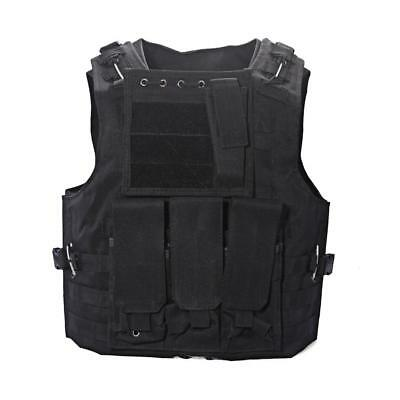 Military Tactical Vest SWAT Police Airsoft Molle Combat Assault Plate Carrier