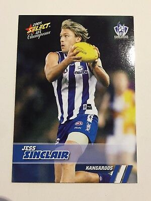 2008 Select Australia AFL Football Card - Kangaroos #109 Jess Sinclair