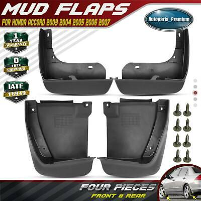 NEW 4pcs Front and Rear Splash Guards Mud Flaps for Honda Accord 2003-2006 2007