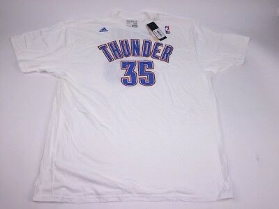 50deb55c9 Adidas Men s Oklahoma City Thunder KEVIN DURANT 35 White T-Shirt 2 XL NWT  White