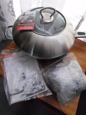 Sunbeam Sk6410 Stainless Ellise 28Cm Skillet Brand New No Box