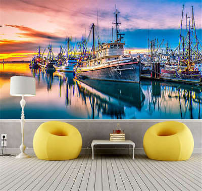 Long Majestic Port 3D Full Wall Mural Photo Wallpaper Printing Home Kids Decor