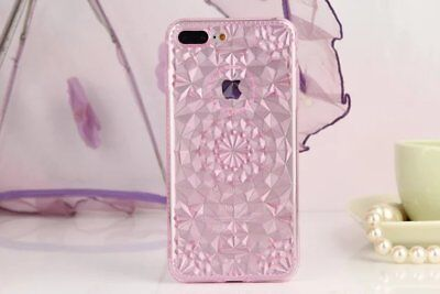 """For Apple iPhone 7 Plus 5.5"""" Pink TPU Crystal Gel Soft Shockproof Case Cover US"""