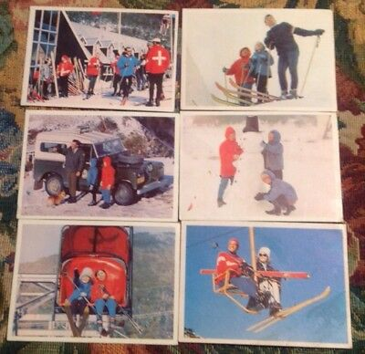 Vintage 6 Weetbix Swap Cards 1966Snow Holiday Free Post