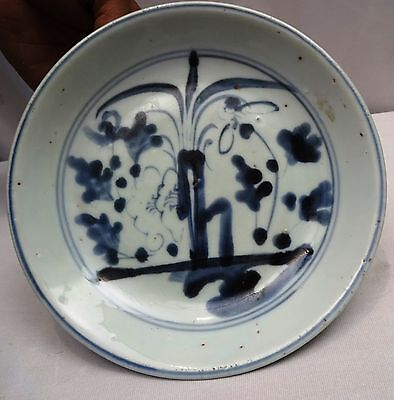 Antique Chinese Blue & White Plate Porcelain Rare Collectibles Ceramic Plate Old