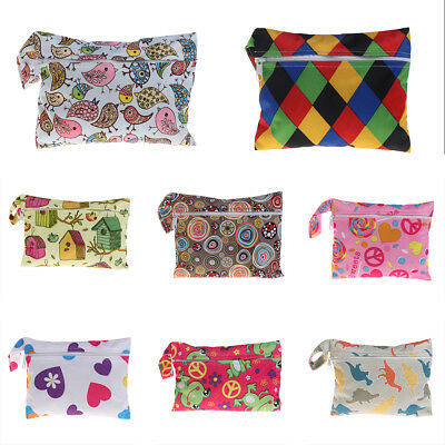 Reusable Mini Water Resistant Wet bag For Menstrual Pads Nursing Pads Stroller