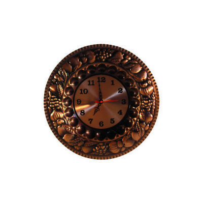 Wall clock copper polished with fruit
