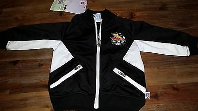 COLLINGWOOD Magpies kids zip up jacket, jumper. Official AFL merch. Size 1. BNWT