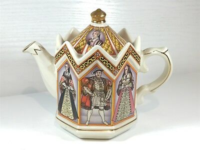 Vintage SADLER TEAPOT 4440 KING HENRY VIII AND HIS SIX WIVES Design England