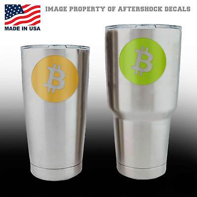 Bitcoin Logo Decal for YETI Ozark Trail Cup Digital Currency Symbol Sticker Peer