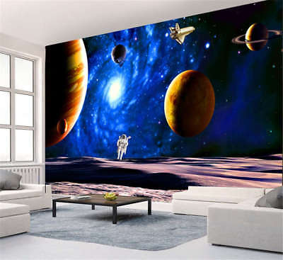 Vibrant Deep Space 3D Full Wall Mural Photo Wallpaper Printing Home Kids Decor