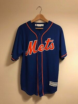 Majestic Blue/Orange New York Mets Baseball Jersey - Medium