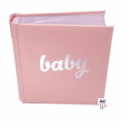Baby Girl Pink Quality Photo Safe Archival 200 Slip In Photo Album Baby Gir Gift