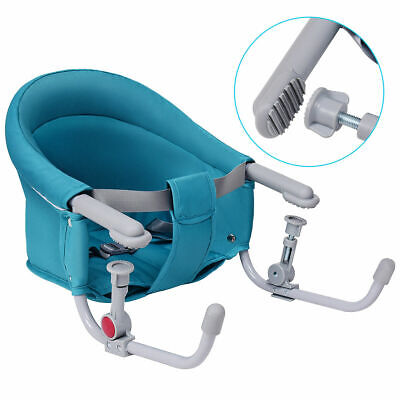 Green Foldable Baby Hook On Chair Booster Fast Table Chair Portable Carrying Bag