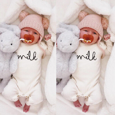 AUStock Newborn Baby Boy Girl Top Outfit Romper Blouse Jumpsuit Bodysuit Clothes