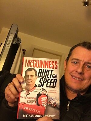 John Mcguinness `Built For Speed` Autobiography ***(personalised signed copy)***