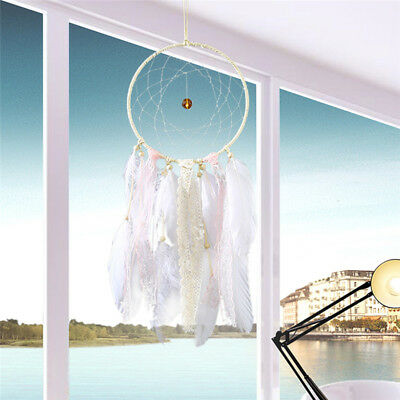Handmade Dream Catcher With Feathers Wall Hanging Decoration Ornament Girl Gift