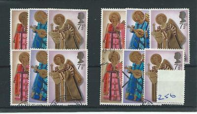 Gb  Wholesale - 1972 - Christmas - F256 - Four Sets - Fine Used
