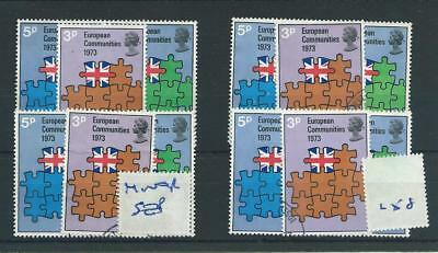 Gb  Wholesale - 1973 - Eec - F258 - Four Sets - Fine Used - Some Minor Perf Sep.