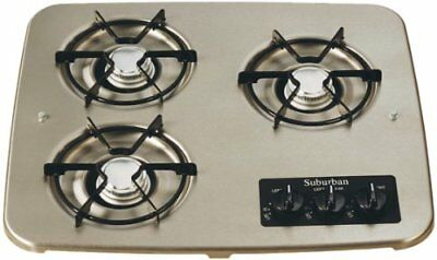Suburban 2938AST 3-Burner Stainless Cooktop