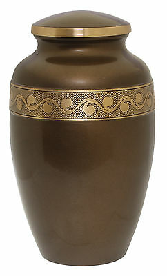 Adult Urns for ashes , Large Funeral Memorial urn Adult, BROWN CLEARANCE PRICE
