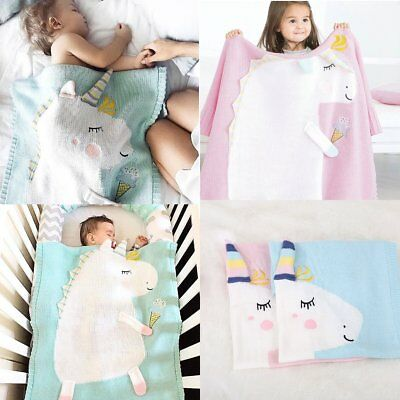 Newborn Baby Infant Kids Unicorn Blanket Bedding Towel Cover Throws Swaddle Wrap