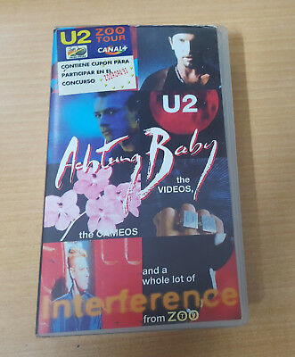 U2 Rare VHS Achtung Baby with Hippie Sticker ZOO TV TOUR..Only Spain