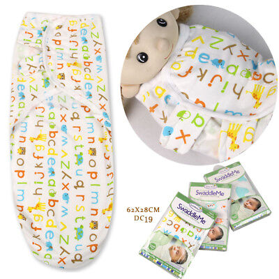 US Cartoon newborn Baby Infant Swaddle Wrap Swaddling Blanket Sleeping Bag New
