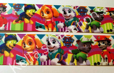 """Paw Patrol 1.5""""- 38mm Grosgrain Ribbon- Sold by 2 M  - Craft - Cakes - Hair"""