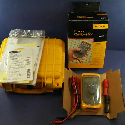 New Fluke 707 Loop Calibrator, Box, Foam Lined Hard Case, Quick Click Knob, More