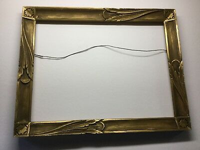 "Antique Hand Carved Art Deco Frame 19.5""x 15.5"" Newcomb Macklin Style"
