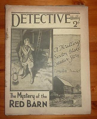 DETECTIVE WEEKLY No 61 21ST APRIL 1934 THE MYSTERY OF THE RED BARN, SEXTON BLAKE
