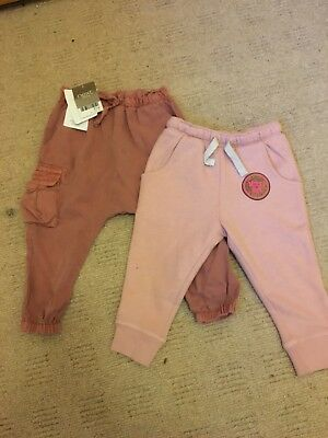 BNWT NEXT girls pink trousers age 9-12 months