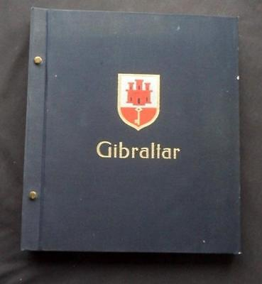 12438aj  GIBRALTAR UP TO c 1990 MINT & USED STAMP & M/S COLLECTION IN DAVO ALBUM