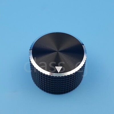 6.4mm 1/4'' Black Aluminum 25 x 15.5mm Potentiometer Volume Audio Rotary Knob