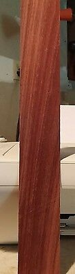"""1 piece of Bloodwood raw wood veneer 13"""" x 1 3/4""""  red & 1/42"""" thickness"""