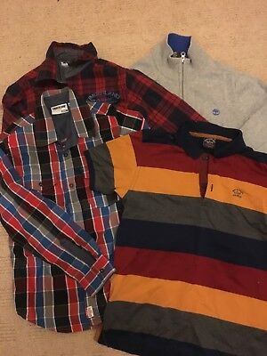 Boys Genuine Clothes bundle age 10 TIMBERLAND PAUL AND SHARK