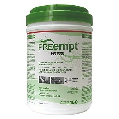 PREempt Wipes – One-Step Surface Cleaner (4 Containers Of 160 Sheets Each)