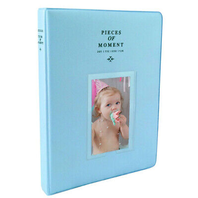 Photo Album For Fuji Instax Mini Prints Holds 128 Photos Light Blue New!