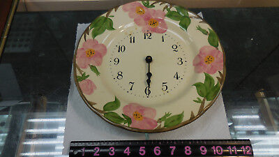 VINTAGE FRANCISCAN DESERT ROSE PATTERN CLOCK PLATE--doesn't work-may be battery?