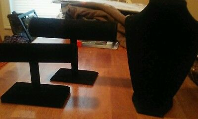 Lot of 3 jewelry display holders