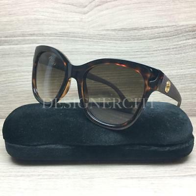 12f2ba7b8bb Gucci GG 3786 S GG3786 S Sunglasses Havana Rubber Brown LWF CC Authentic  54mm
