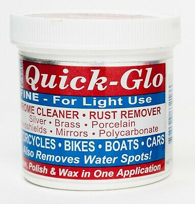 Quick-Glo - Chrome, metal and plastics cleaner 8oz (Fine formula)