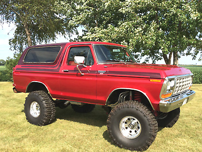 1978 Ford Bronco Red 1978 Red Ford Bronco - XLT Ranger