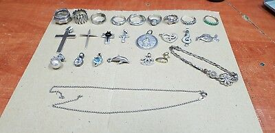 Sterling silver 925 for scrap or for wear or resale 104 grams mixed lots
