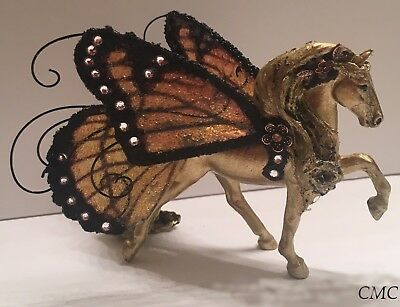 OOAK Breyer Stablemate Repaint Custom Horse Figurine with Butterfly Fairy Wings