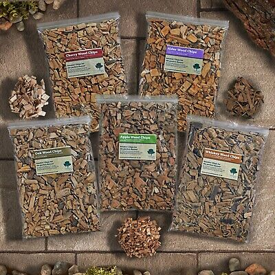 Smoking Wood Chips BBQ- Smoker OAK, APPLE,ALDER, CHERRY, BEECH, ASH, Birch 4.5 L